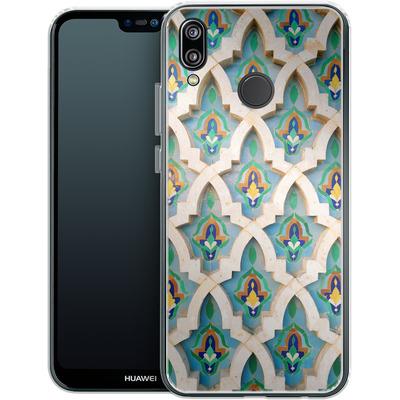 Huawei P20 Lite Silikon Handyhuelle - Moroccan Mosaic von Omid Scheybani