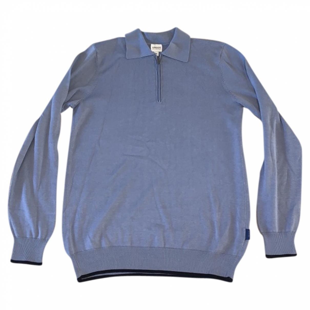Armani Collezioni \N Pullover.Westen.Sweatshirts  in  Blau Seide