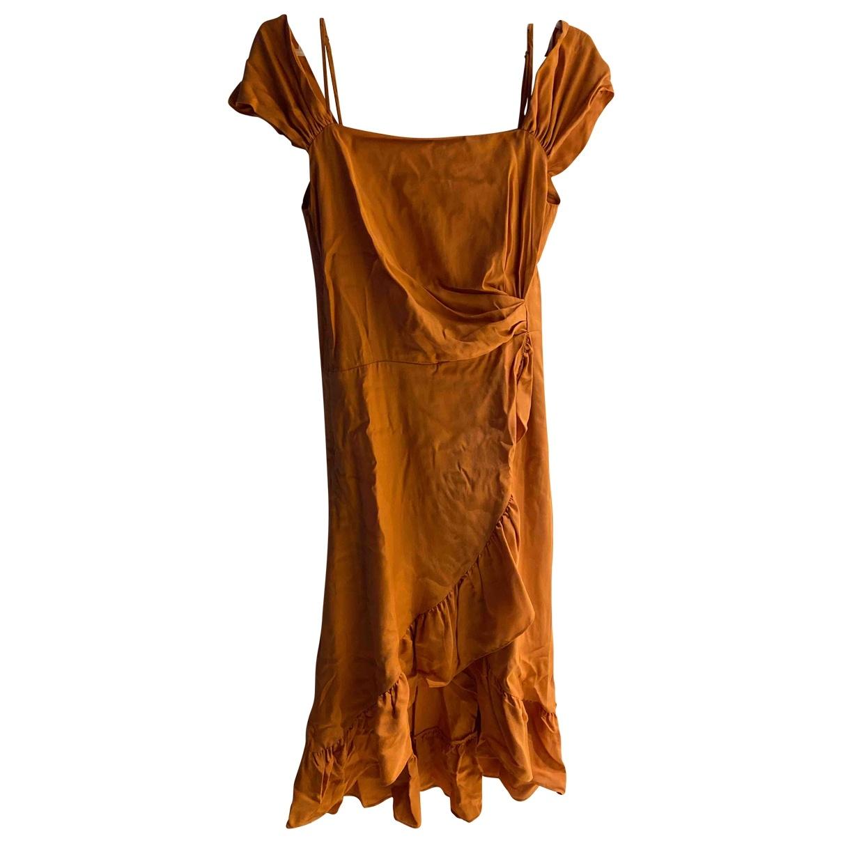 Maje Spring Summer 2019 Kleid in  Orange Viskose