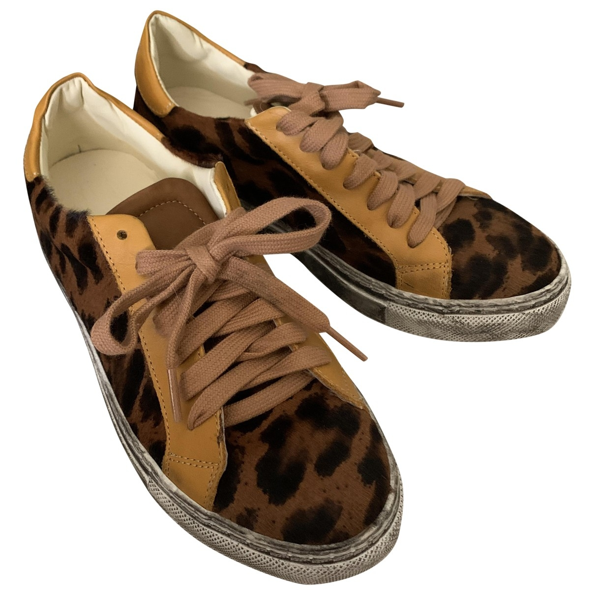 Non Signé / Unsigned \N Leather Trainers for Women 37 IT