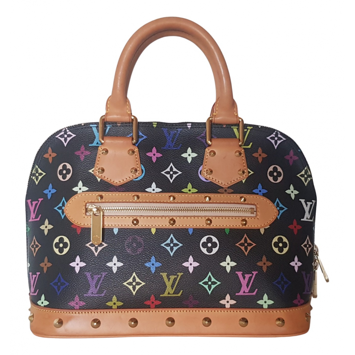 Louis Vuitton Alma Handtasche in  Bunt Leinen