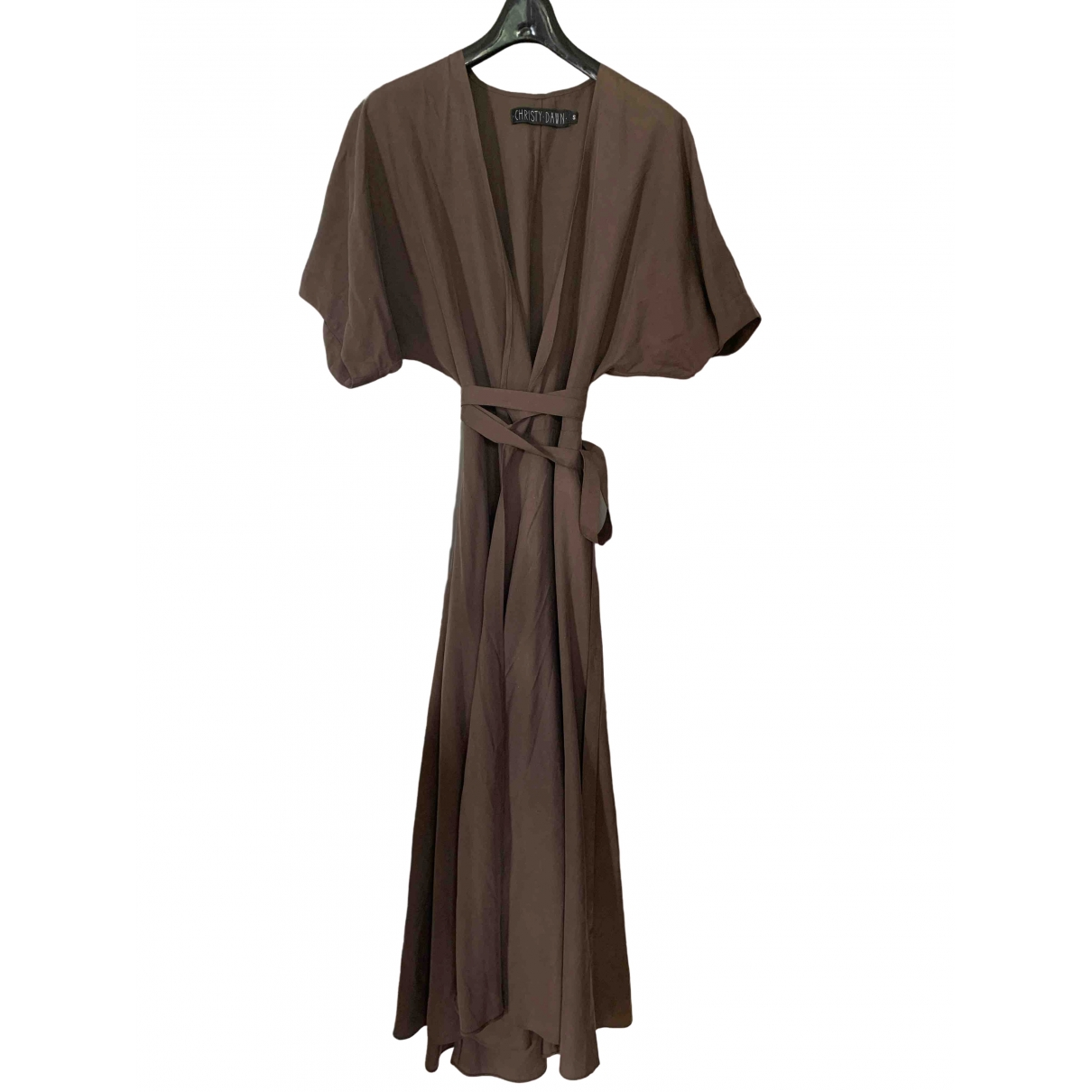 Christy Dawn \N Kleid in  Braun Viskose