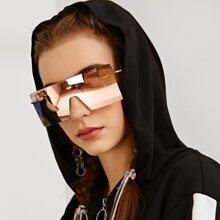 Randlose Flat Top Shield Sonnenbrille