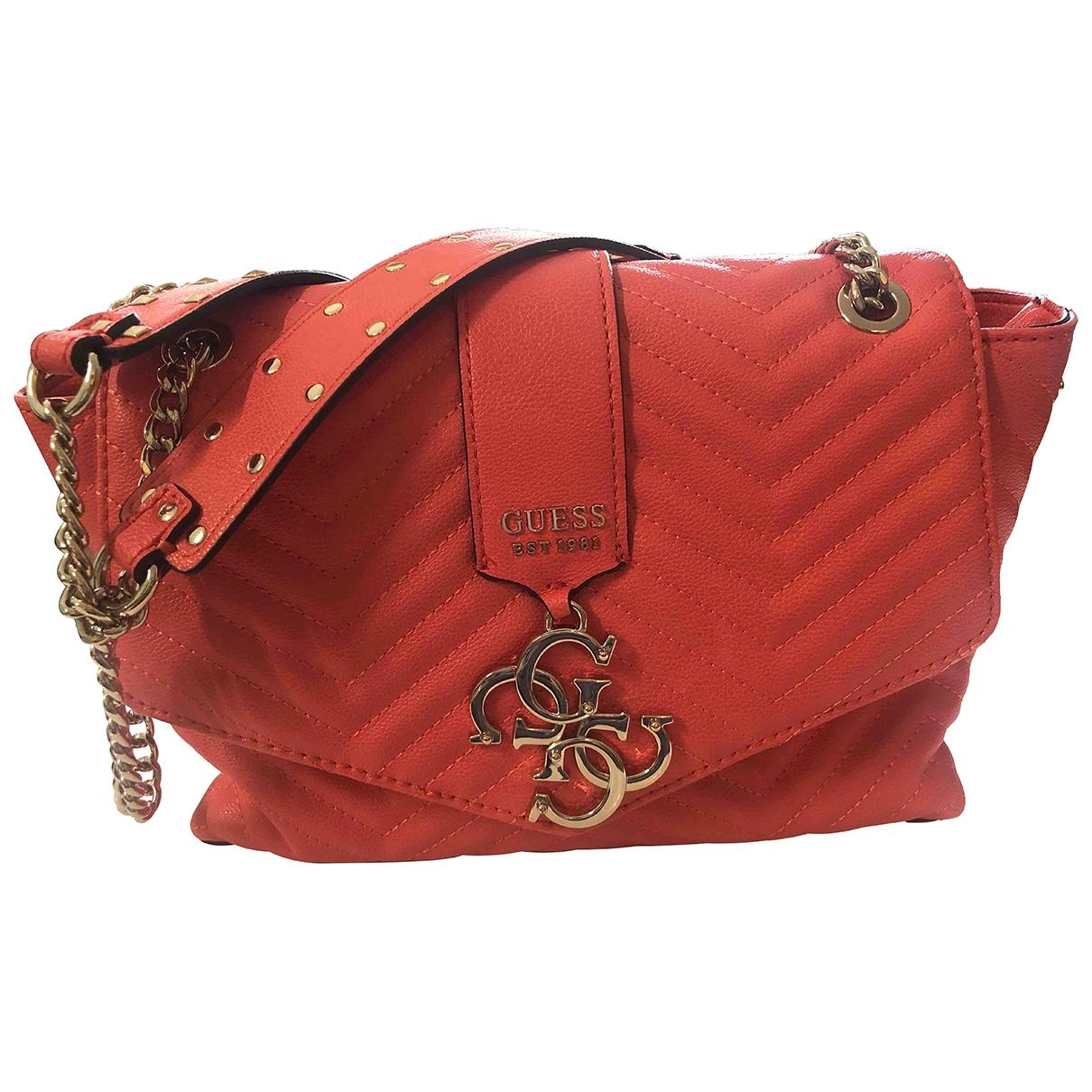Guess \N Orange Patent leather handbag for Women \N