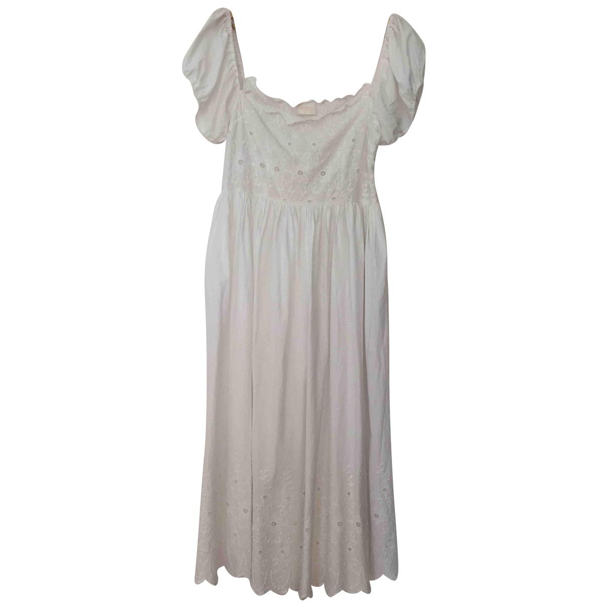Posse \N Kleid in  Weiss Baumwolle