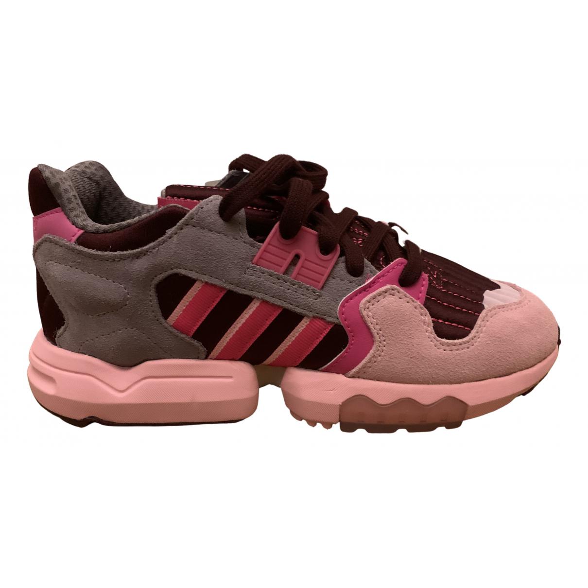 Adidas - Baskets ZX pour femme en caoutchouc - rose