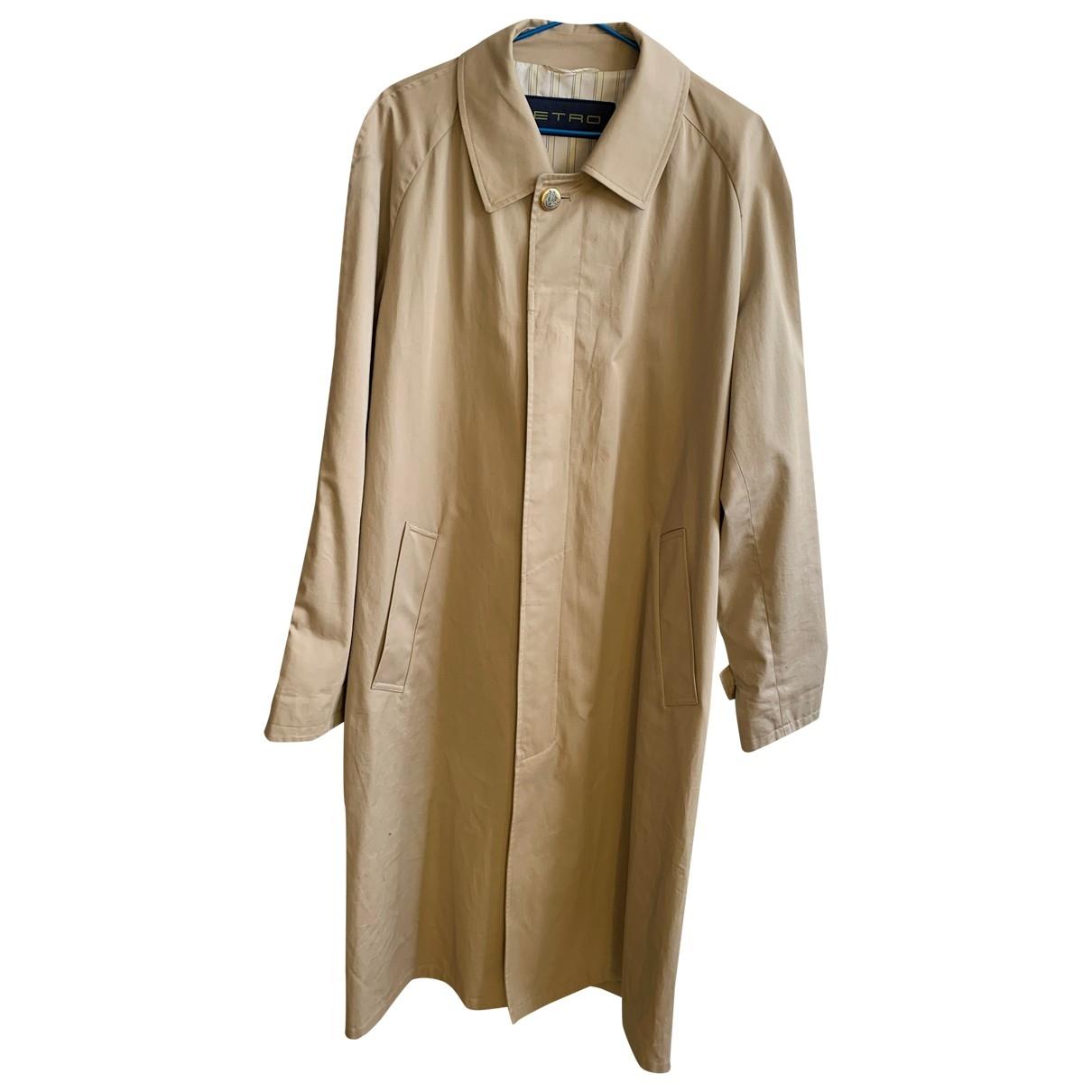 Etro - Manteau   pour homme en coton - beige