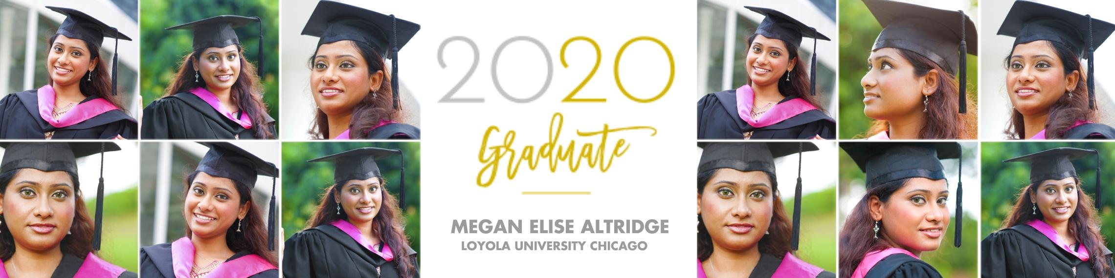 Graduation 2x8 Adhesive Banner, Home Décor -Modern Classic Graduate