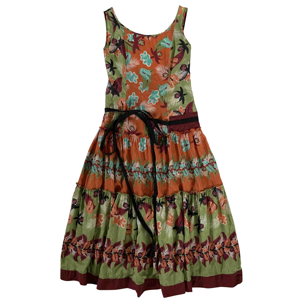 Philosophy Di Alberta Ferretti \N Multicolour Silk dress for Women 46 IT