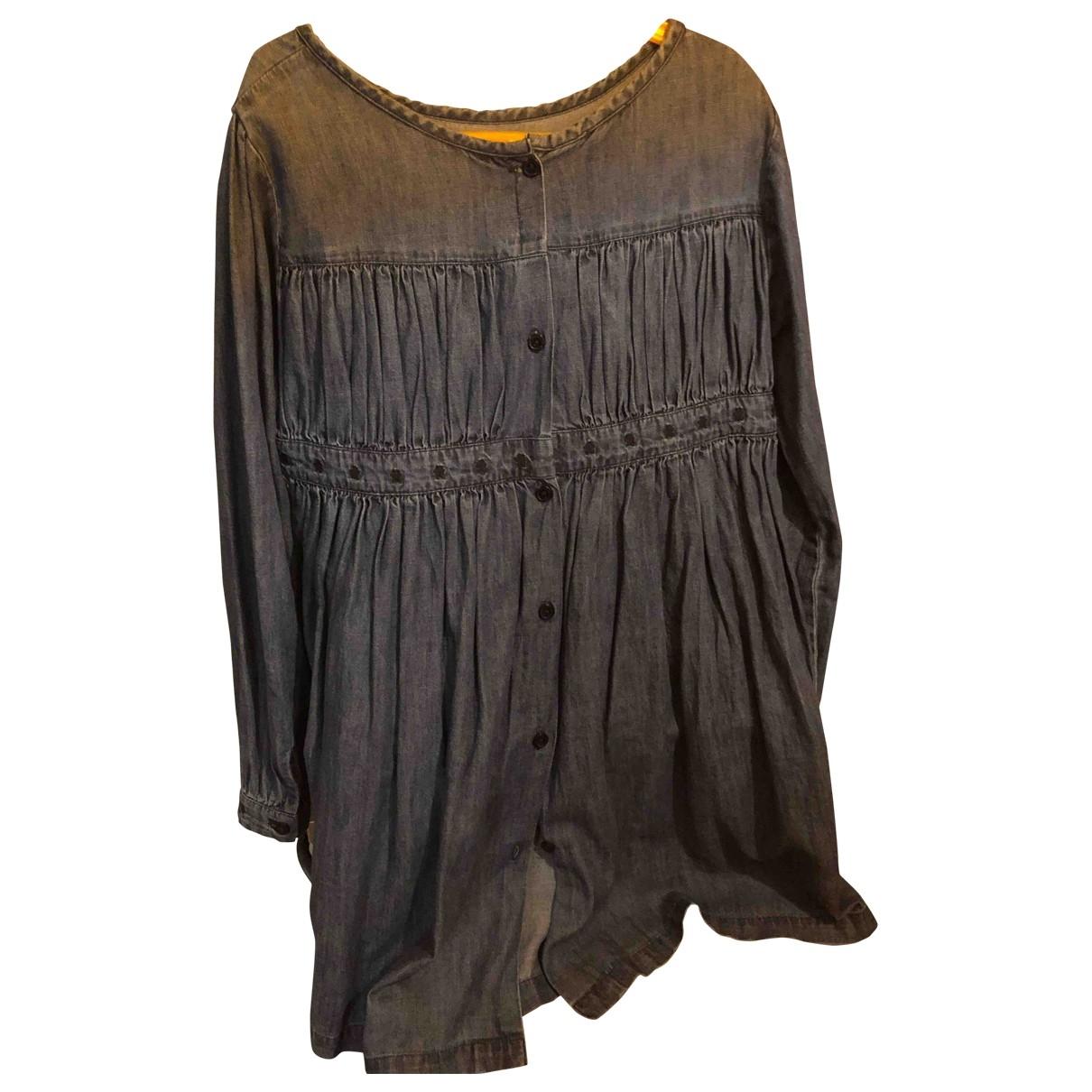 Zef - Robe    pour enfant en coton - bleu