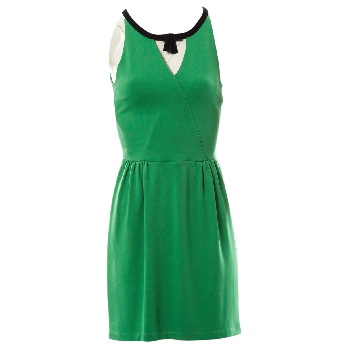 Red Valentino Garavani \N Green Cotton - elasthane dress for Women XS International
