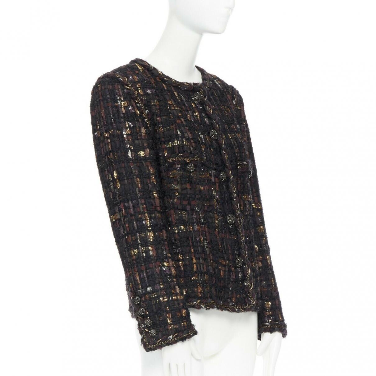 Chanel - Veste   pour femme en soie - violet