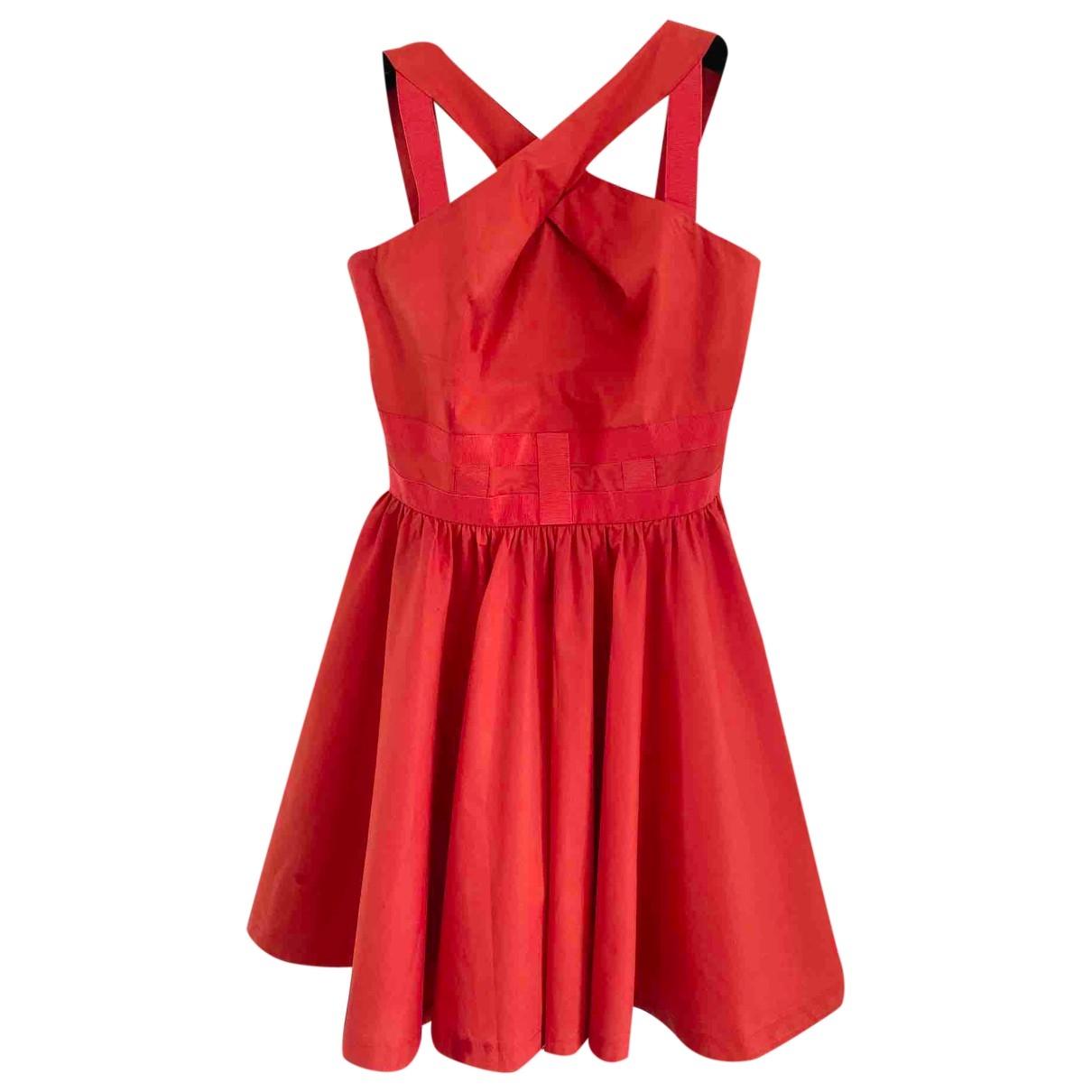 Versus \N Kleid in  Rot Baumwolle
