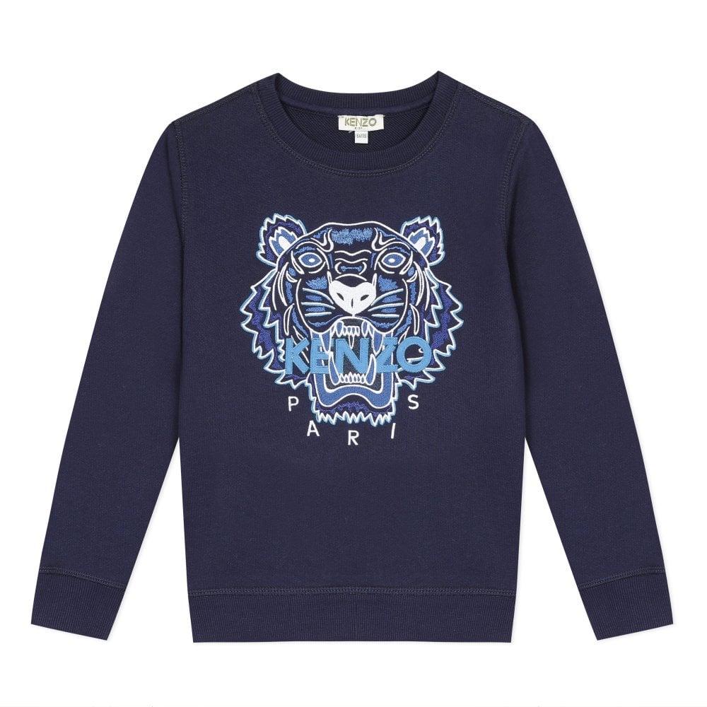 Kenzo Tiger Sweatshirt Colour: NAVY, Size: 8 YEARS