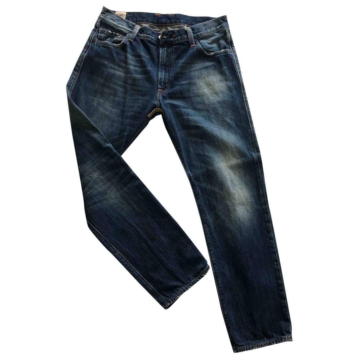 Htc \N Blue Cotton Jeans for Men 34 US