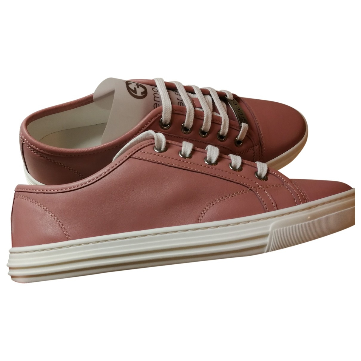 Gucci \N Pink Leather Trainers for Women 36.5 EU