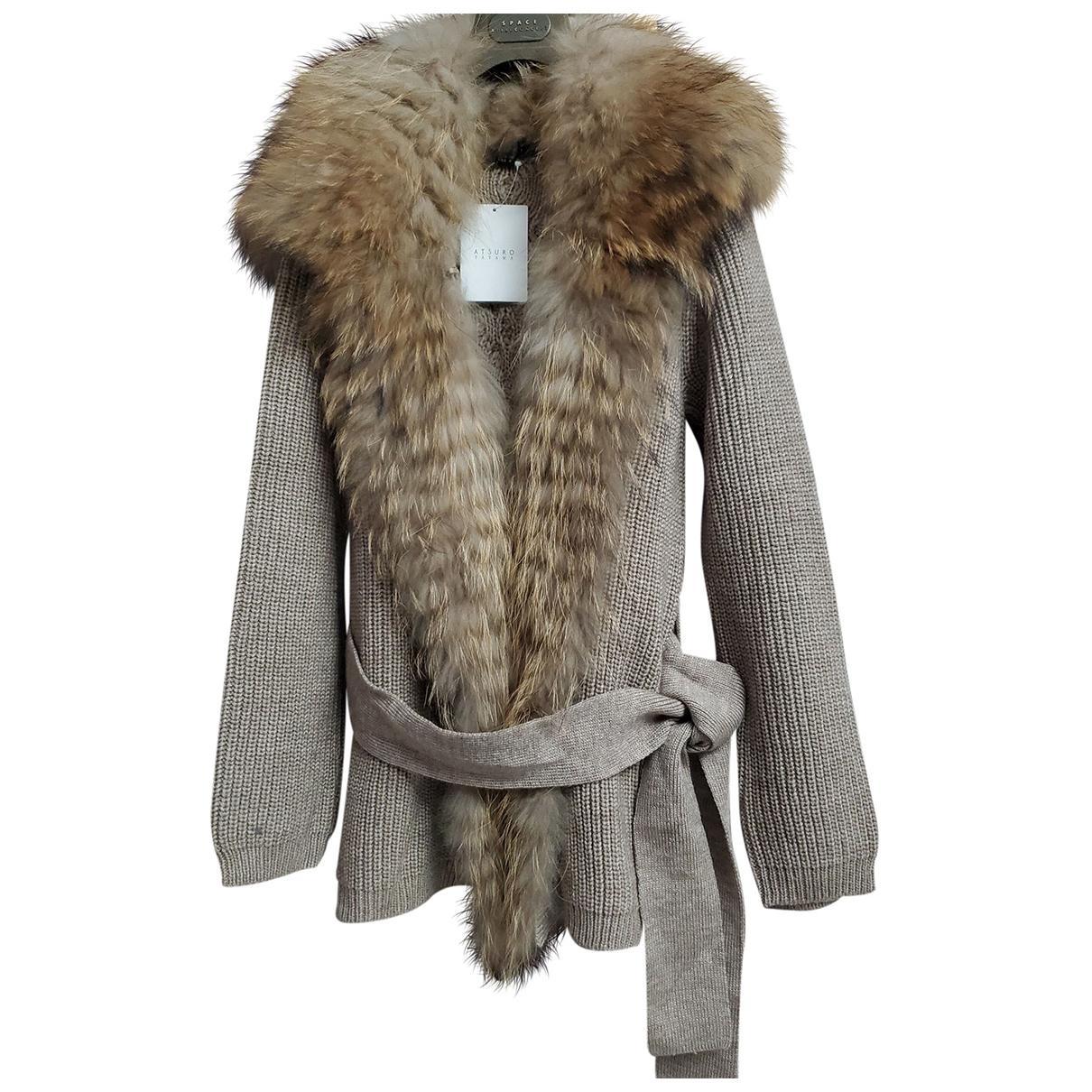 Atsuro Tayama - Pull   pour femme en laine - marron