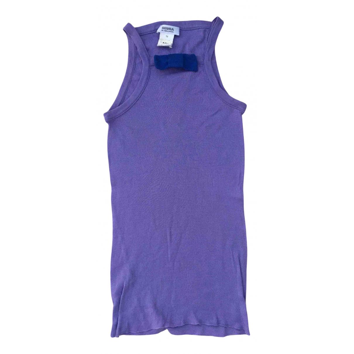 Sonia By Sonia Rykiel - Top   pour femme en coton - violet