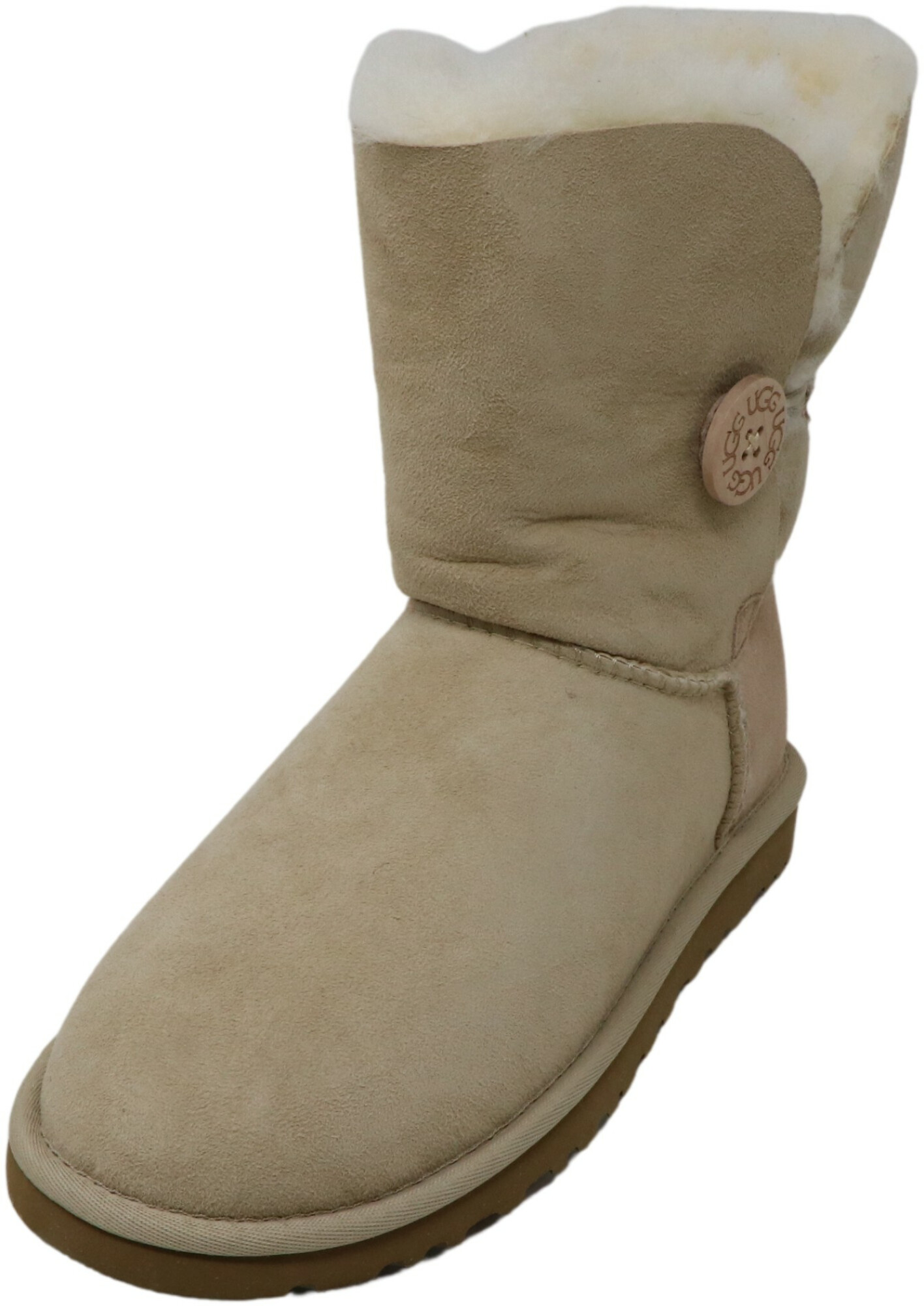 Ugg Women's Bailey Button Sand Ankle-High Suede Boot - 6M
