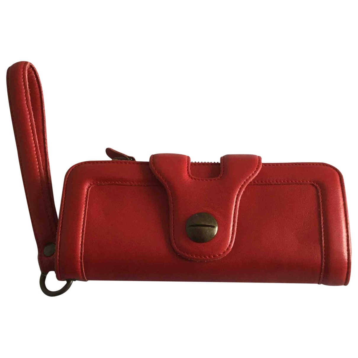 Gerard Darel 24h Red Leather Clutch bag for Women \N
