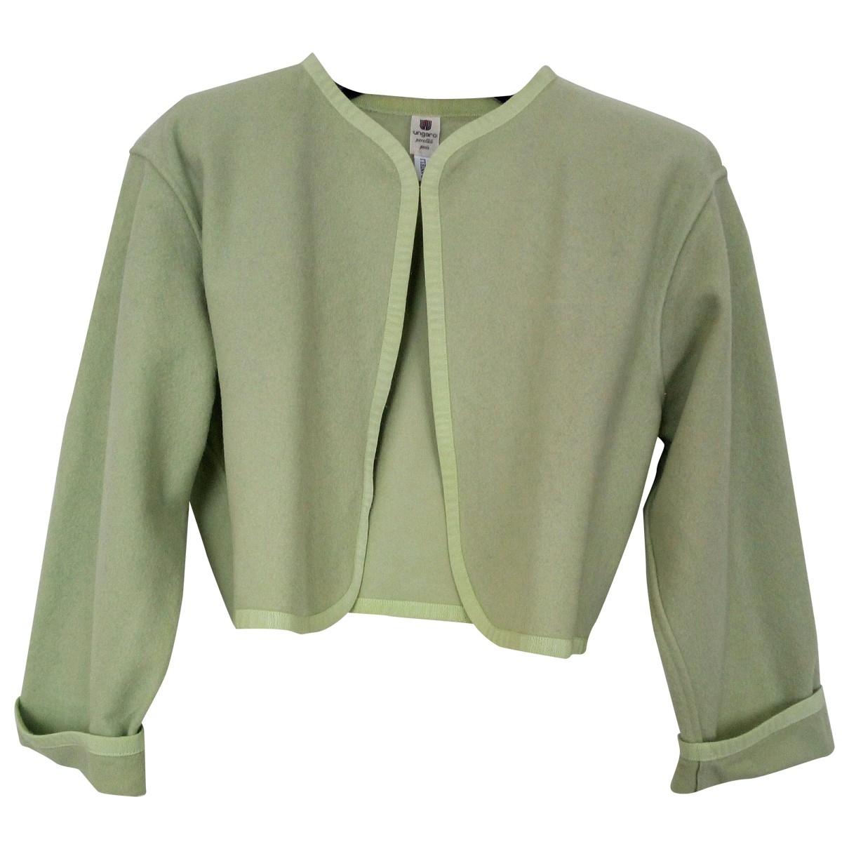 Ungaro Parallele \N Green Wool jacket for Women XS International