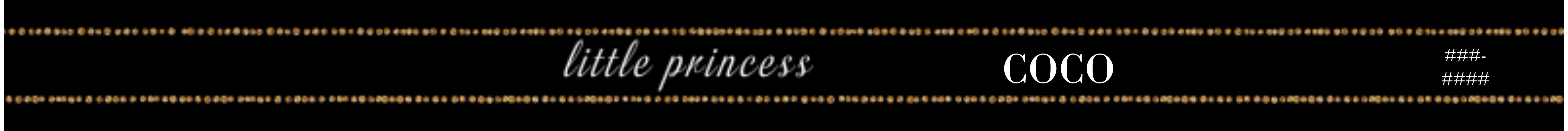 Miscellaneous Small Pet Collar, Gift -Pretty Princess Pet Black