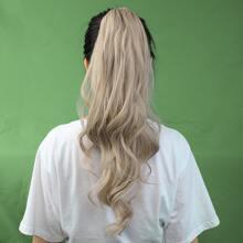 1 Stueck Lange lockige Pferdeschwanz-Haarverlaengerung