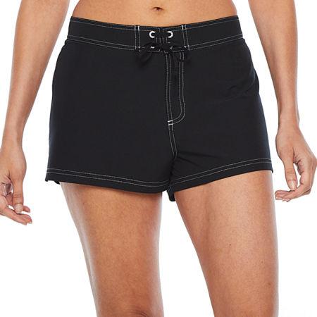 Zeroxposur Swim Shorts Swimsuit Bottom, Large , Black