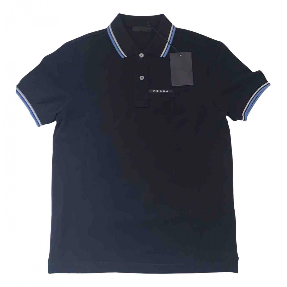 Prada - Tee shirts   pour homme en coton - marine