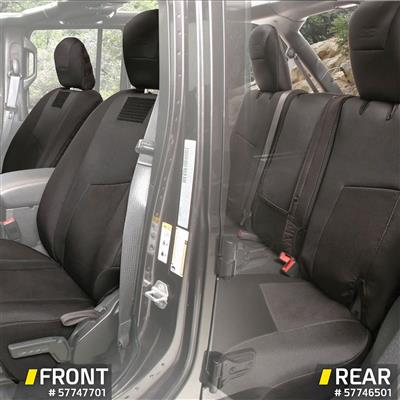 Smittybilt G.E.A.R. Front Seat Covers (Black) - 57747701