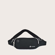 Men Letter Graphic Fanny Pack