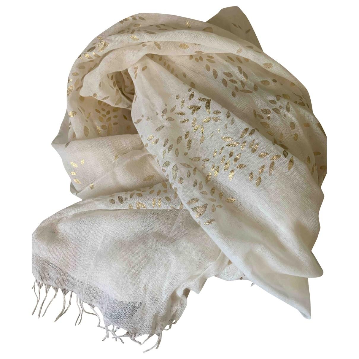 Inoui \N White Cotton scarf for Women \N