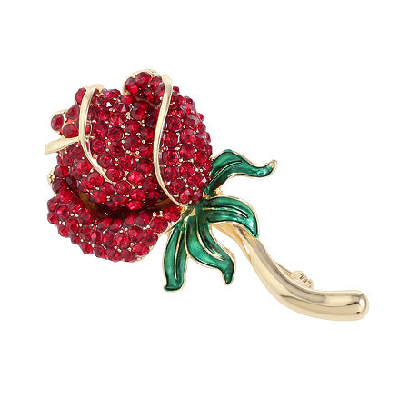 Monet Jewelry Rose Pin, One Size , Red