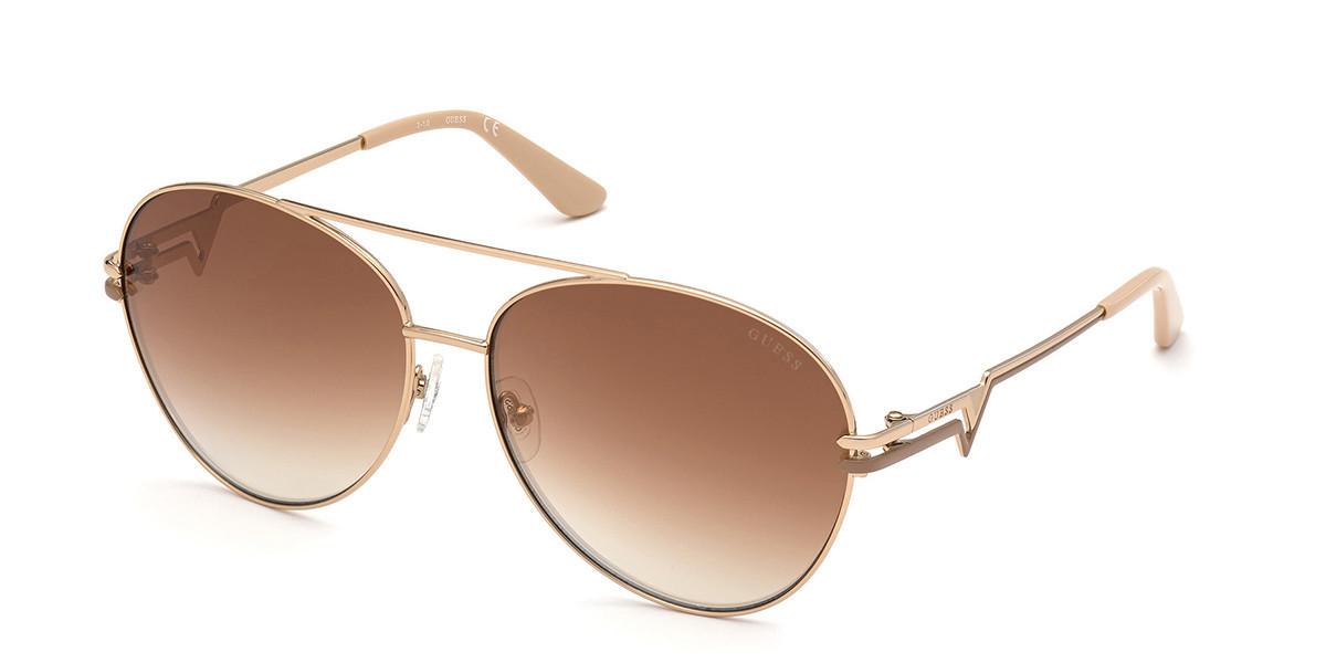 Guess GU 7735 28U Women's Sunglasses Gold Size 64
