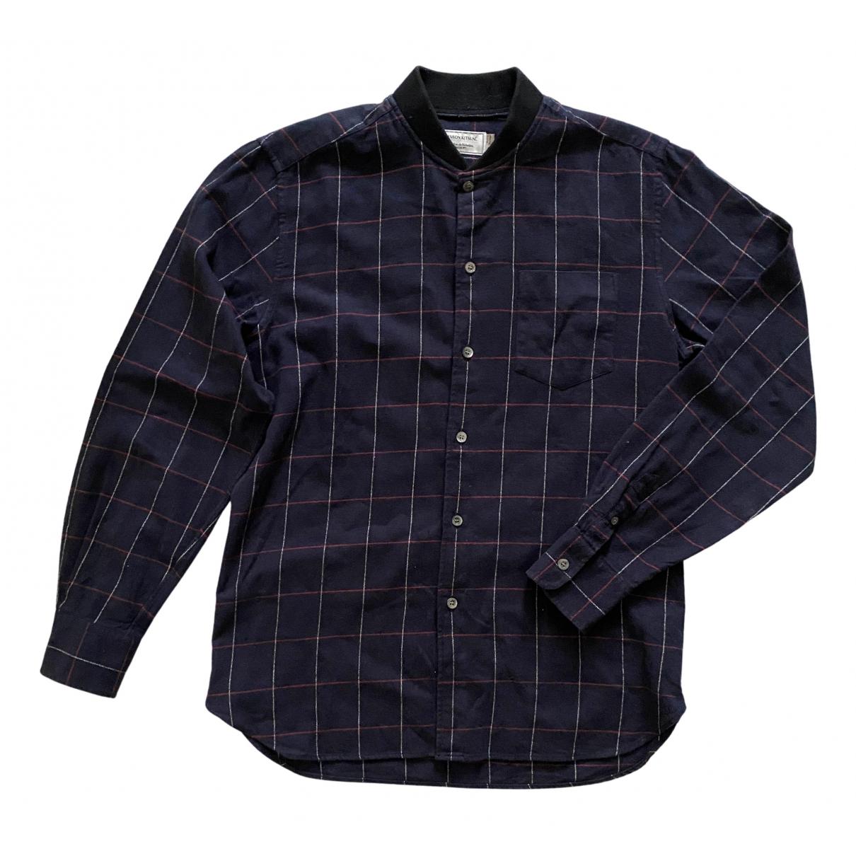 Maison Kitsune - Chemises   pour homme en coton - bleu