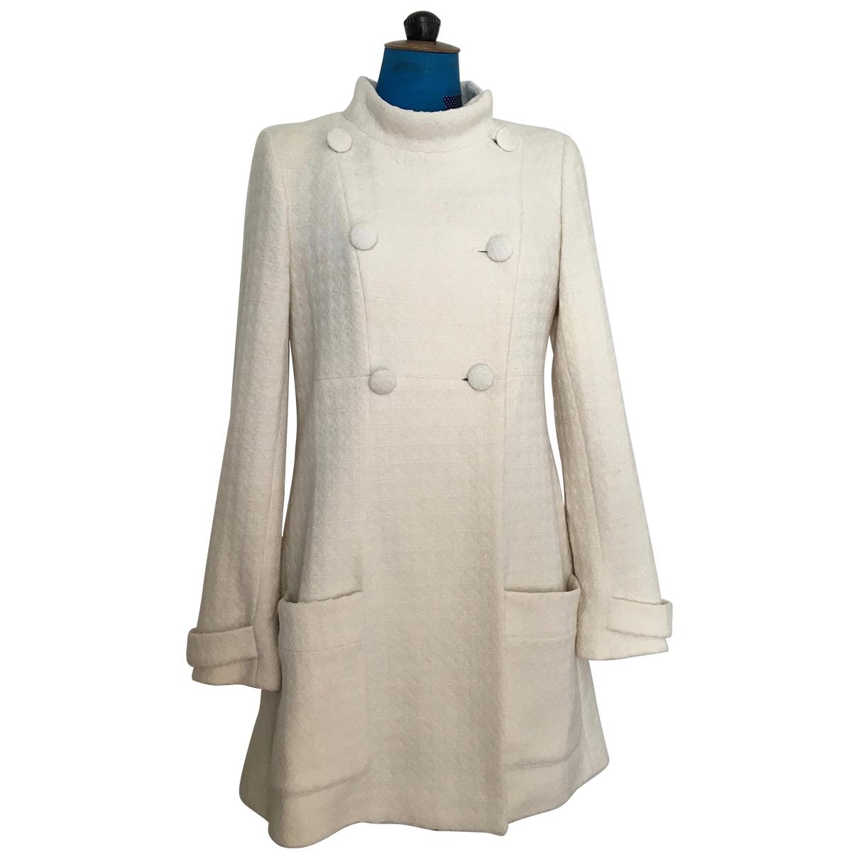 Paul & Joe - Manteau   pour femme en laine - ecru