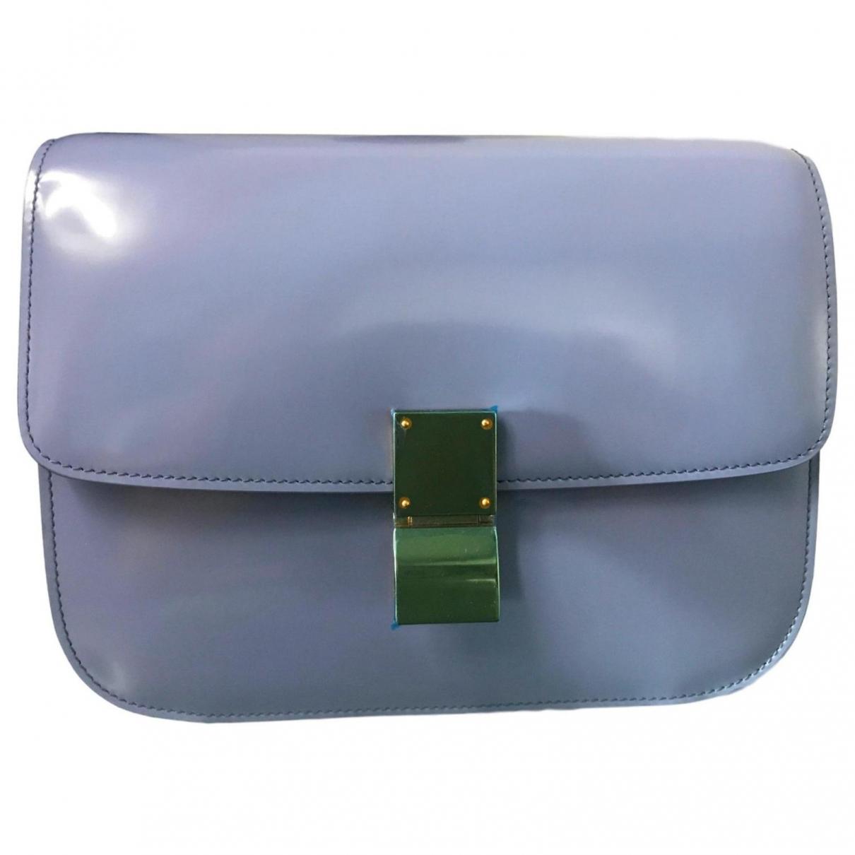 Celine - Sac a main Classic pour femme en cuir - bleu
