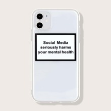 Slogan Graphic Clear iPhone Case