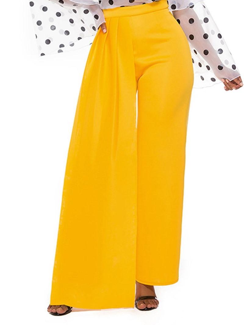 Ericdress Plain Full Length High Waist Loose Casual Pants