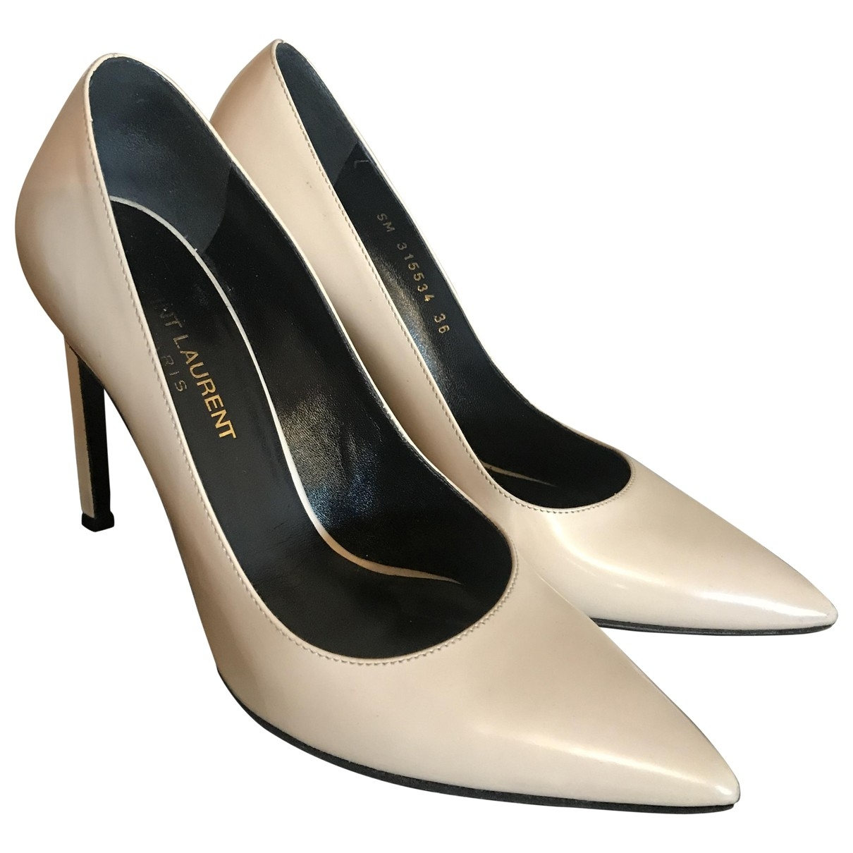 Saint Laurent Anja Pumps in  Beige Leder
