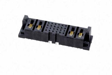 Samtec , MPSC 2mm Pitch 20 Way 10 Row Straight PCB Socket, Through Hole, Solder Termination (60)