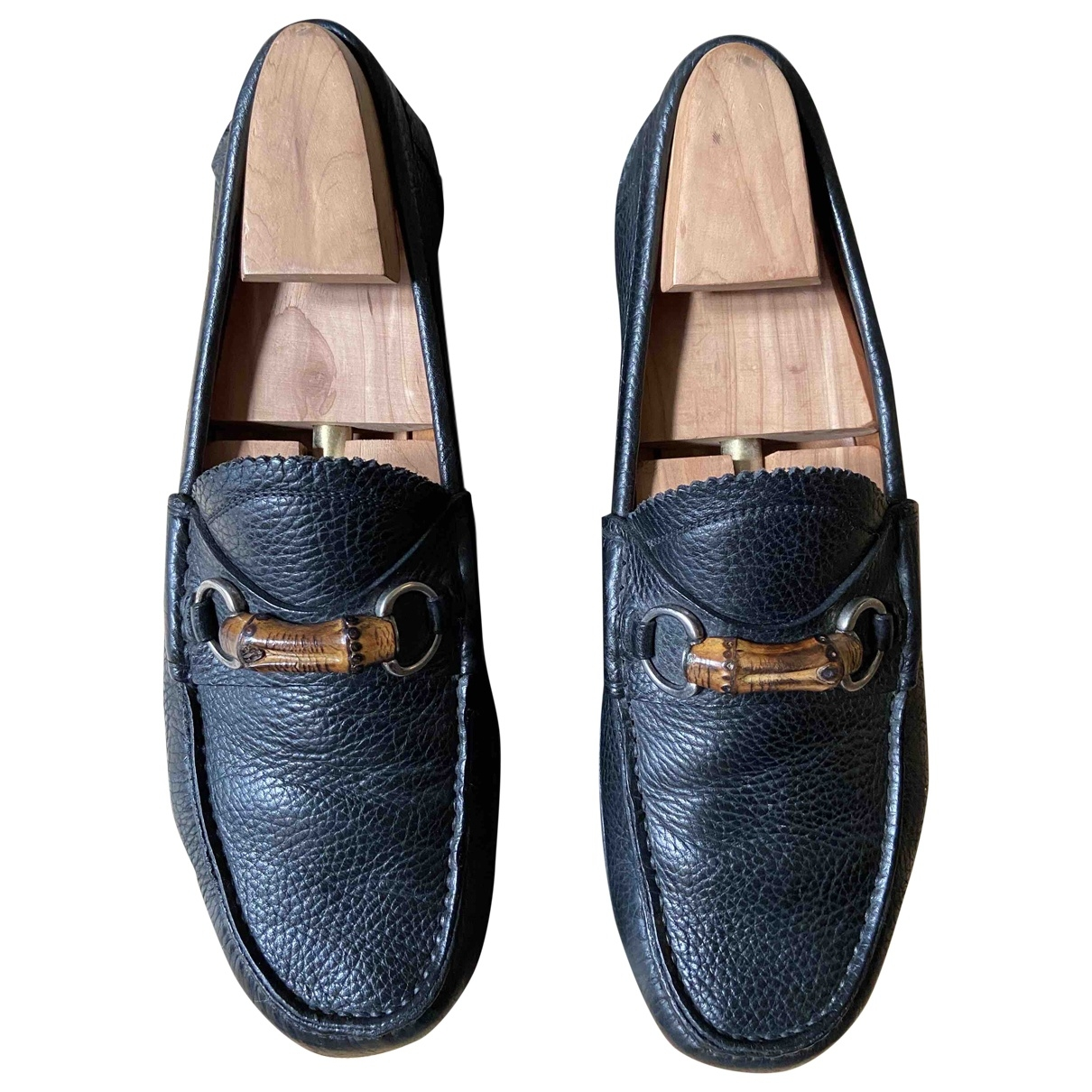 Gucci \N Black Leather Flats for Men 9 UK