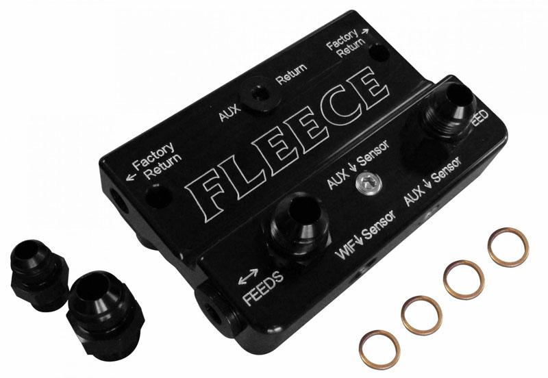 Fleece Performance FPE-DPK-67-36-10-DX-OG 2013-2018 6.7L Cummins Deluxe Dual Pump Kit W/PowerFlo 750 Orange Pulley