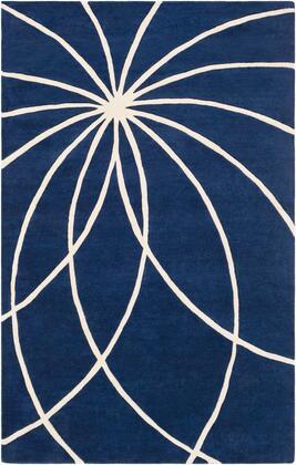 Forum FM-7186 5' x 8' Rectangle Modern Rug in Dark Blue
