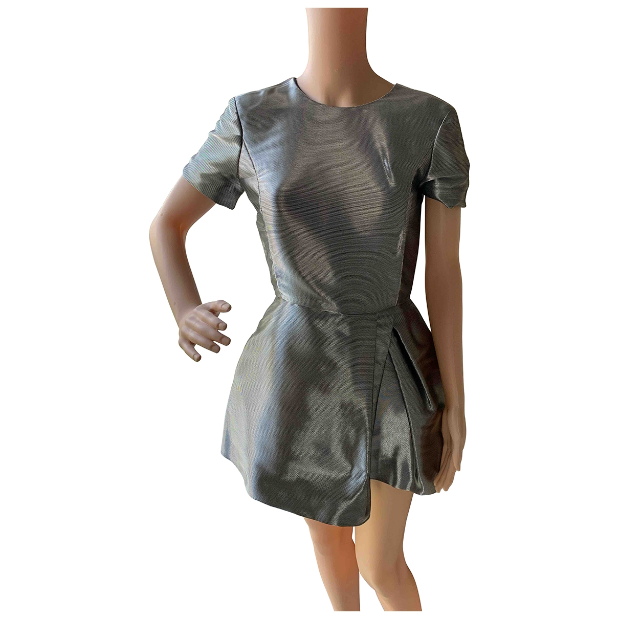 Christian Dior - Robe   pour femme en soie - argente