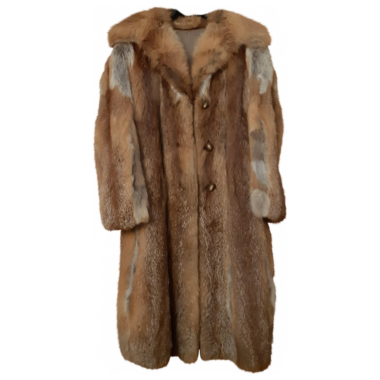 Non Signé / Unsigned \N Brown Fox coat for Women 38 FR