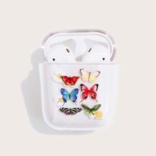 Butterfly Print Transparent AirPods Case