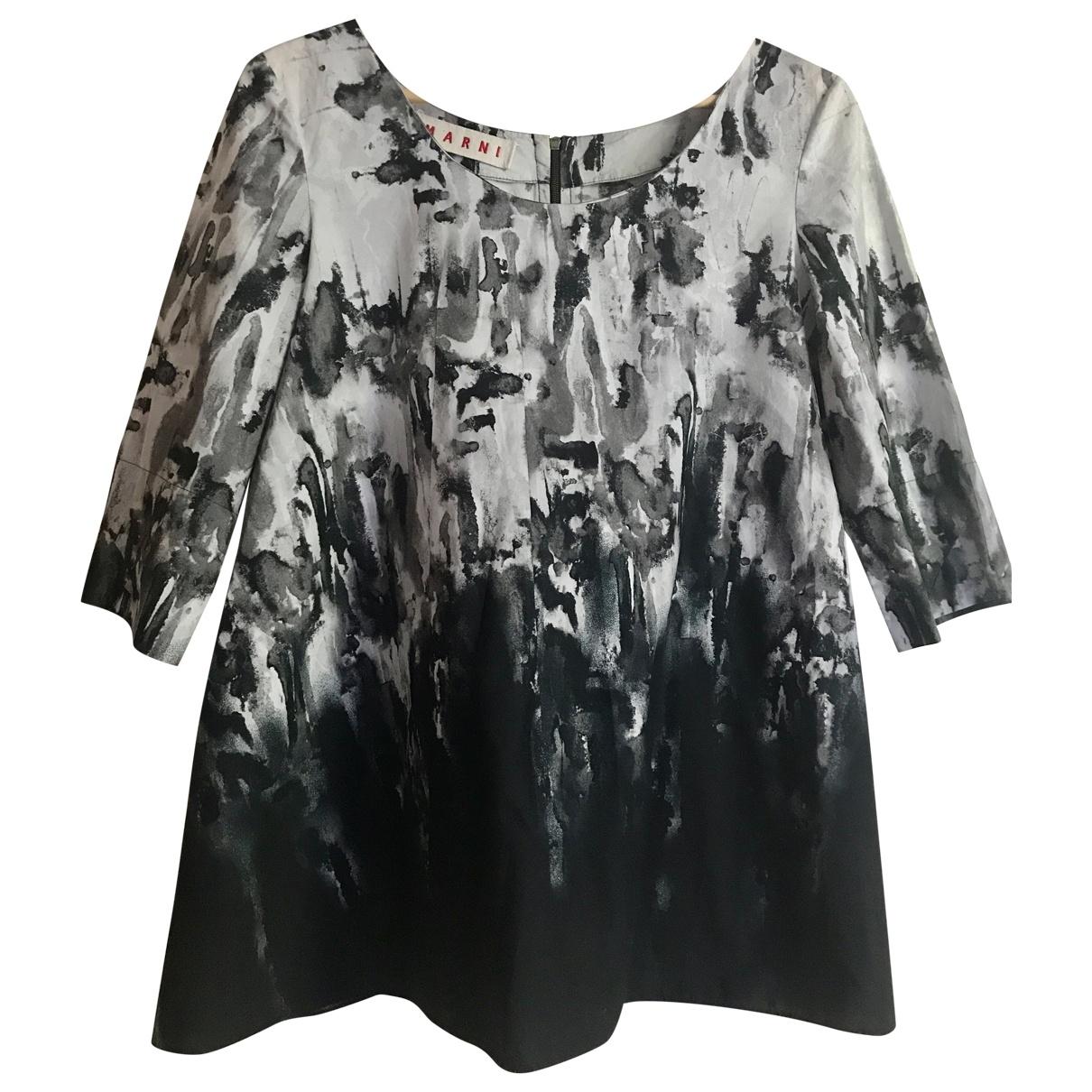 Marni - Top   pour femme en coton - noir