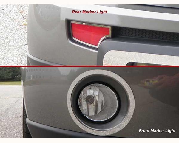 Quality Automotive Accessories 4-Piece Front and Rear Marker Light Accent Trim Kia Soul 2011