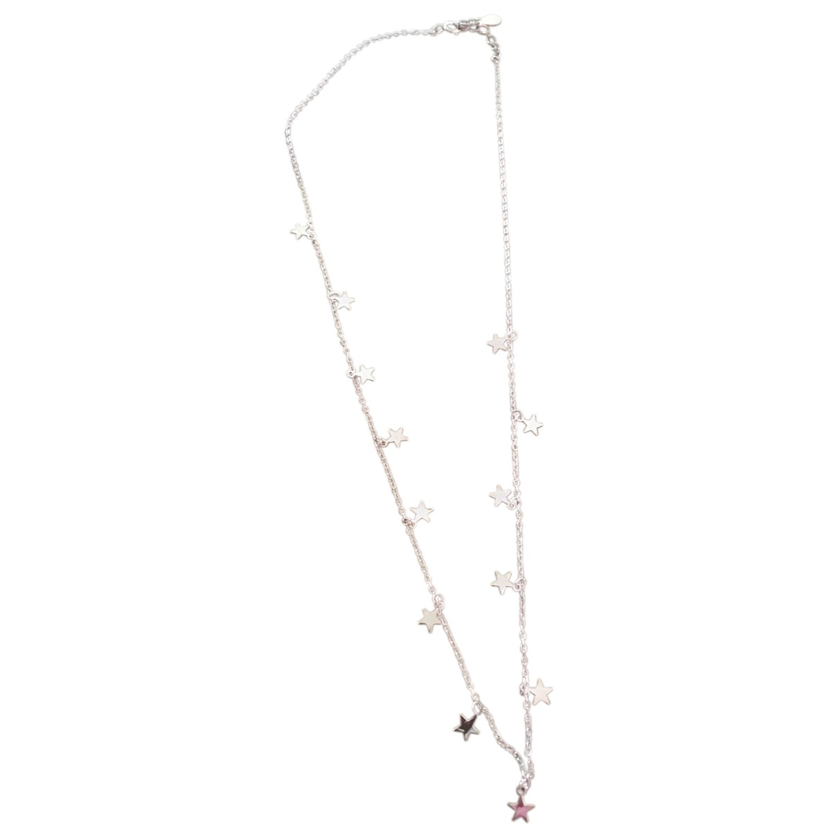 Non Signé / Unsigned Motifs Etoiles Pink Gold plated necklace for Women \N
